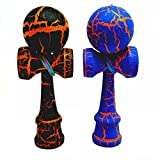 KENDAMA TOY CO. - The Best Pocket Kendama For All Kinds Of Fun (not full size) - 2-Pack - Awesome Colors: Blue/Orange and Black /Orange Kendama Set - Solid Wood - A Tool To Create Better Hand And Eye Coordination