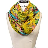 Scarfand's Mixed Color Oil Painting Infinity Scarf (BrushStroke Rose Yellow)