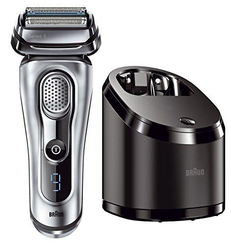 Braun Series 9 9090cc elektrischer Rasierer mit Reinigungsstation silber