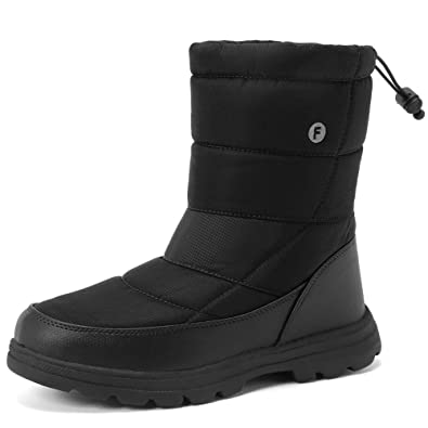 WALUCAN Men and Women s Waterproof Snow Boot Drawstring Cold Weather Boot aacbbb2e2e