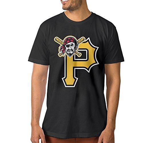 DETED Fashion T-shirt Tee - P Pirates For Men's SizeM Black