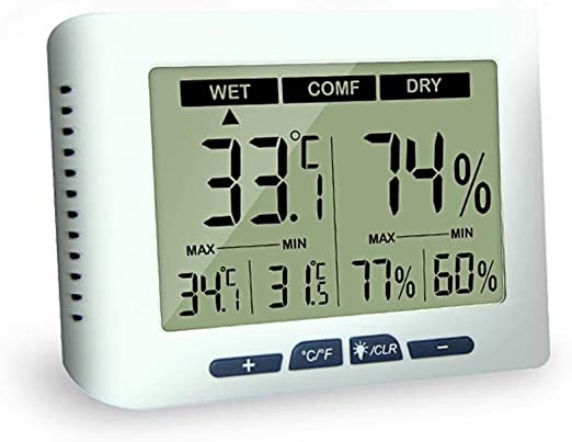 Digital Indoor Hygrometer Thermometer Temperature and Humidity Monitor Room with
