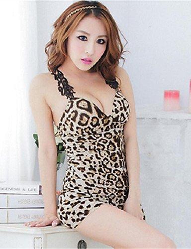 Di HJL one Leopardo donna Da pizzo size Completi da camel Indumenti camel notteSexy xqgYrpqZ