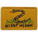 #8: Tactical No Step On Snek Patches Military Morale Velcro Patches for Caps,Bags,Backpacks,Tactical Vest,Military Uniforms (Yellow)