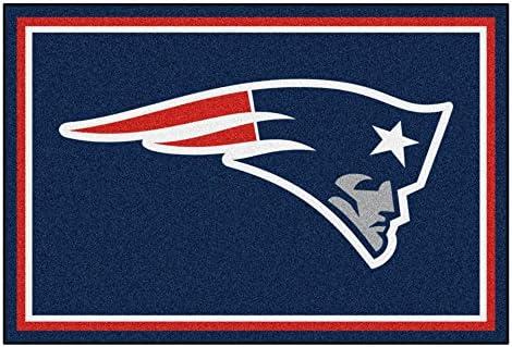 FANMATS NFL New England Patriots Nylon Face 5X8 Plush Rug