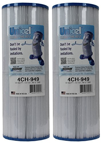 2) New Unicel 4CH-949 Pool Spa Waterway Replacement Filter Cartridges 50 Sq Ft ()