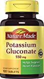 Nature Made Potassium Gluconate 550mg, 500 Tablets (Pack of 2)