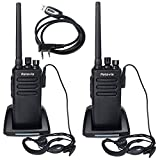 Retevis RT81 On-Site Waterproof DMR Digital Two Way Radio 32 channel 10W Long Range UHF Business Radio(2 Pack) and Programming Cable(1 Pack)