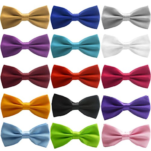 Mromick Classic Fashion Novelty Mens Adjustable Tuxedo Wedding Bow Tie Necktie