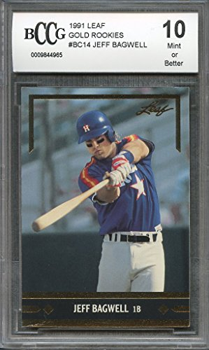 1991 leaf gold rookies #bc14 JEFF BAGWELL houston astros rookie card BGS BCCG 10 Graded Card