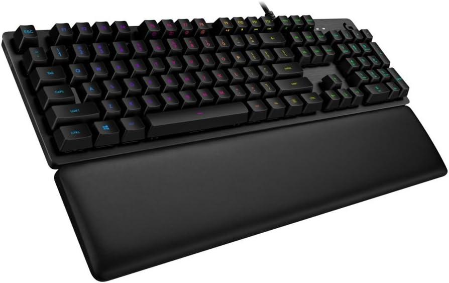 Logitech G513 - Teclado mecánico para Gaming con retroiluminación RGB e interruptores mecánicos Romer-G Lineal, Carbon - QWERTY Español