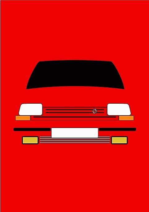 Renault 5 GT Turbo – Tarjeta de felicitación Retro Motor Company