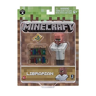 Minecraft Villager Librarian Figure Pack Action by Jazwares Domestic