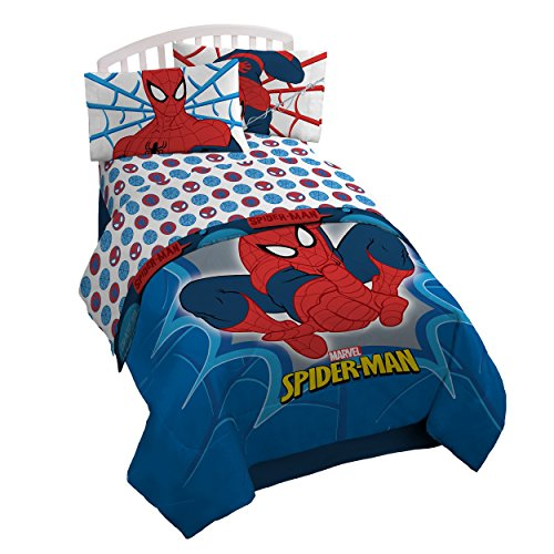 Marvel Spiderman 'Bold' 4 Piece Full Sheet Set