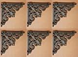 Small Victorian Shelf Brackets Solid Cast Iron, 3 7/8, Set of 6, B-27