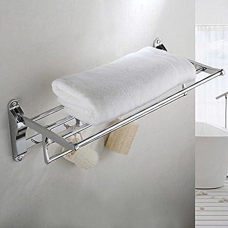 BBSLT Porta toallas plegadas de acero inoxidable baño toallas baño actividades estanterías colgantes: Amazon.es: Hogar
