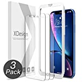 Image of XDesign Glass Screen Protector Designed for Apple iPhone XR 2018 (3-Pack) Tempered Glass with Touch Accurate and Impact Absorb + Easy Installation Tray for iPhone XR [Fit with Most Cases] - 3 Pack
