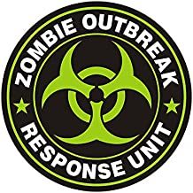 1080GPHX Zombie Outbreak Response Unit Green Decal Control Team Vinyl Sticker Made in USA