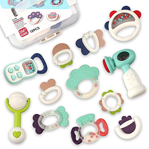 GrowthPic Baby Rattles Teether 2...