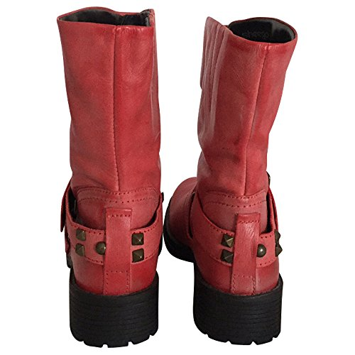 sheego XL Damen Kurzschaft Stiefelette - mit weitem Schaft - rot
