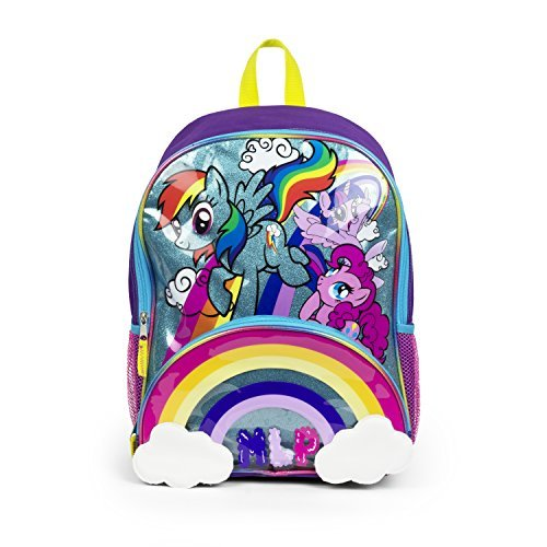 My Little Pony Rainbow Magic Die Cut Cloud Pocket Backpack -