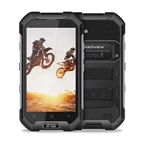 Unlocked Cell Phone, Blackview BV6000S Rugged Smartphone - 4G Android 7.0-4.7''HD IP68 Waterproof Dual SIM Phone - 4500mAh Battery 2MP+8MP - 2GB RAM+16GB ROM with NFC/GPS/SOS/GLONASS/PTT