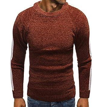 Hombre camiseta tops otoño casual, ❤ Sonnena Suéter de cuello redondo flojo de la