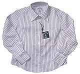 Blooks Girls Fine Stripe Button Down Shirt Top Raspberry 8