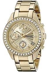 Fossil Women's ES2683 Decker Gold-Tone Stainless Steel Watch with Link Bracelet