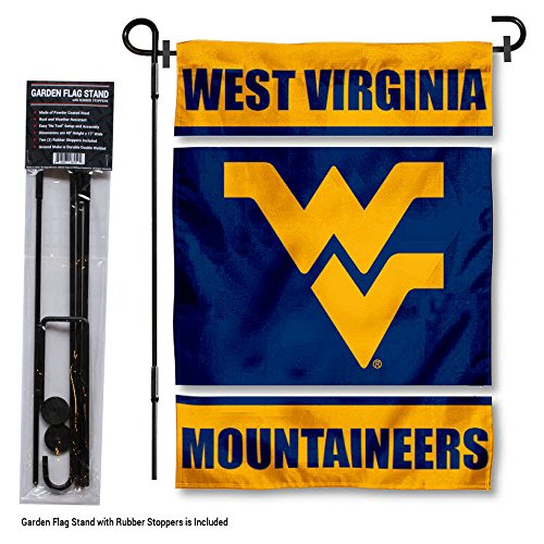 College Flags and Banners Co. West Virginia Mountaineers Garden Flag with Stand Holder