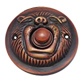 Adonai Hardware Lion Brass Bell Push or Door Bell or Push Button - Antique Copper