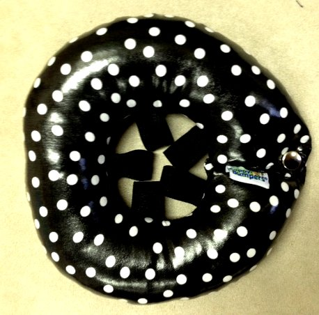 Puppy Bumpers-Rainy Day (Water Resistant) Keep Your Dog On The Safe Side of The Fence - Black Dot 10