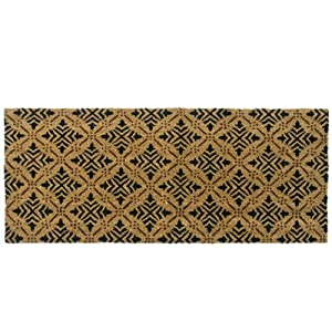 rubber cal 24 inch by 57 inch classic fleur de lis french matting double door mat. Black Bedroom Furniture Sets. Home Design Ideas