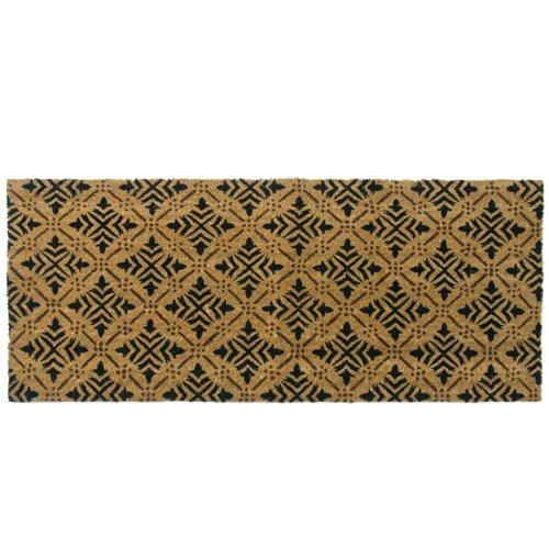 Rubber-Cal 24-Inch-by-57-Inch Classic Fleur de Lis French Matting Double Door Mat ()