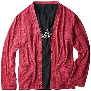 [nissen(ニッセン)] ジーンズ メンズカジュアル 大きいサイズ 2点セット(カーディガン+長袖Tシャツ)