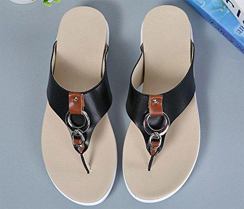 Black De Grueso Las Fondo Correa Salvajes Sandalias Zapatos Zapatillas Mujeres zEvqIdzxw