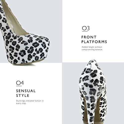 Platform Hidden Shoes Women's Pony Sexy Pointed Fashion Pump Extreme Hair High Stiletto High Toe Heel BBqXYx4