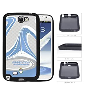 Argentina Brazuca Ball Print World Cup 2014 Soccer MLS Sports Blue and Gray TPU Rubber Cell Phone Case Samsung Galaxy Note 2 N7100