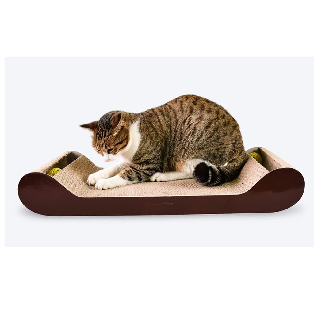 C CWWJ Pet nest, cat scratch board claw-claw wear-resistant corrugated paper paper cat paw scratch sofa toy (color   C)