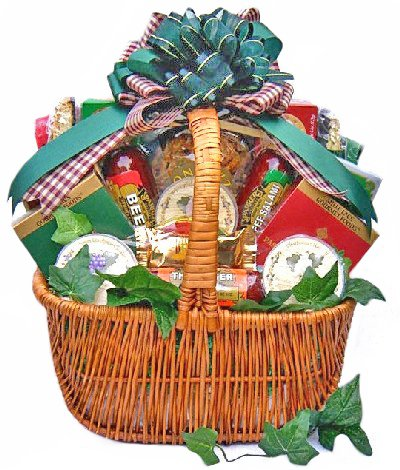 Meat, Cheese, Crackers and Nuts | Gift Basket | Size Large