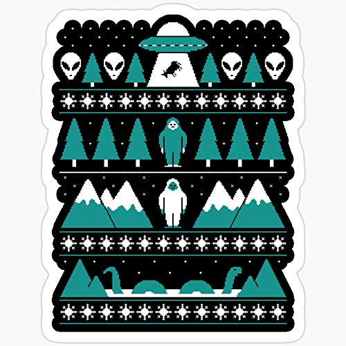BeliNZStore Paranormal Christmas Sweater Stickers (3 Pcs/Pack)