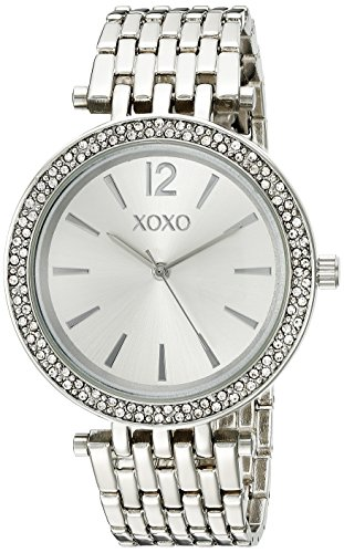 XOXO Womens Quartz Stainless Steel and Silver-Tone Dress Watch, Color:Silver (Model: XO263)