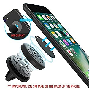 (2Pack) Maxboost Universal Air Vent Magnetic Car Mount Holder For Cell Phone / iPhone / Smartphone / Samsung Galaxy Phone / Google Pixel / Nexus / GPS / Mini Tablet (Compatible with protective case)