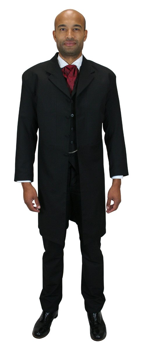 Historical Emporium Men's Callahan Frock Coat 40 Black
