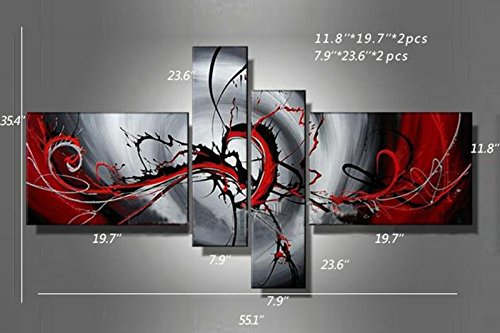 Popular Hand Painted Oil Paintings Canvas Multi Panel Art Set Home Decoration Modern Abstract Wall Art Wholesale 4pcs/set