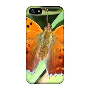 VFR2076FvCt Tpu Phone Case With Fashionable Look For Iphone 5/5s - Golden Butterfly