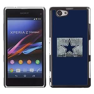 EJOY---Cubierta de la caja de protección la piel dura para el / Xperia Z1 Compact D5503 / --Estrella azul