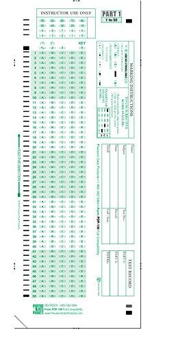 PDP-100 (25/pkg), 882 E Compatible Testing Forms (25 Sheet Pack)