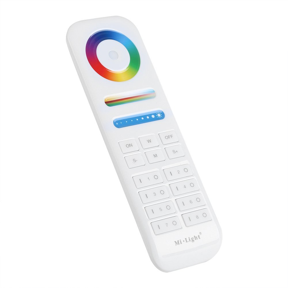 Wireless 2.4GHZ 8-Zone Remote Controller for Color Temperature Saturation Brightness Color Controlling Zerodis