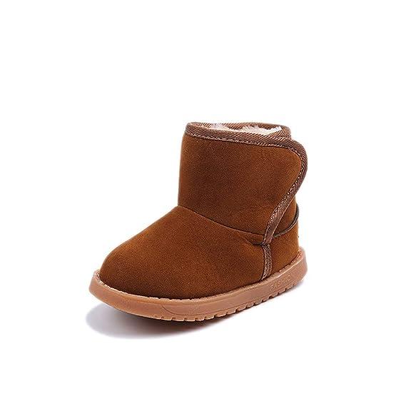 Botas Botas Mujer Invierno Nieve Acolchada para niños,JiaMeng Botas de Nieve de Estilo cálido Botas de Nieve de algodón Navidad Botines Zapatos: Amazon.es: ...